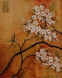 Oriental Blossoms I Art by Jennifer Hammond