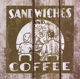 Sandwich and Coffee Prints by Unknown