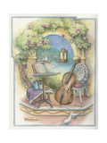 Music Garden-Cello Giclee Print by Kim Jacobs
