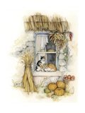 Harvest Cats Giclee Print by Kim Jacobs