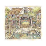 Cobblestone Boatworks Giclee Print by Kim Jacobs