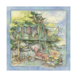 Shore House Giclee Print by Kim Jacobs