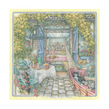 Breakfast under the Arbor Giclee Print by Kim Jacobs
