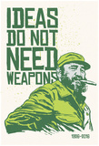 Ideas Not Weapons - Verde Pôsters