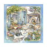 Woodfired Oven Breakfast Giclee Print by Kim Jacobs
