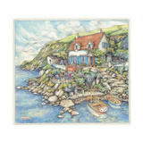 Seaside Cottage Giclee Print by Kim Jacobs