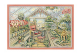 Christmas Greenhouse Giclee Print by Kim Jacobs