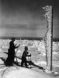 Cross-Country Skiing at the Jizera Mountains, 1935 Photographic Print by  Süddeutsche Zeitung Photo