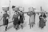 Women in Trieste on their Way to the Market, 1932 Photographic Print by  Süddeutsche Zeitung Photo