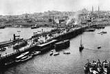 Galata Bridge in Istanbul, 1941 Fotografisk tryk af Knorr Hirth Süddeutsche Zeitung Photo
