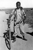 Zulu with a Bicycle in South Africa, 1938 Photographic Print by  Süddeutsche Zeitung Photo