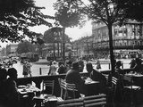 Street Cafe and Potsdamer Platz in Berlin, 1920-1929 Metal Print by Scherl Süddeutsche Zeitung Photo