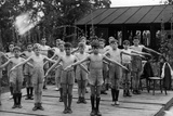 Boys of the Stowey House London County Council School in London Doing Gymnastics, 1938 Photographic Print by  Süddeutsche Zeitung Photo