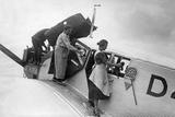 Maintenance and Cleaning of a Lufthansa Airplane, 1926 Photographic Print by Scherl Süddeutsche Zeitung Photo