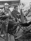 "Pilot and Crew Member Who Participate in the ""Challenge International De Tourisme"", 1932 Photographic Print by Scherl Süddeutsche Zeitung Photo"
