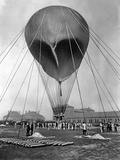 "Stratospheric Balloon ""Preussen"" Preparing to Start in Berlin-Tempelhof, 1901 Photographic Print by Scherl Süddeutsche Zeitung Photo"