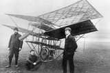 Aviation Pioneers Next to a Homemade Flying Machine, 1908 Photographic Print by Scherl Süddeutsche Zeitung Photo