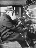 Man Sitting Inside of a Chevrolet Sedan, 1925 Photographic Print by Scherl Süddeutsche Zeitung Photo