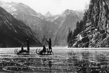 Koenigssee with Frozen Surface, 1939 Photographic Print by  Süddeutsche Zeitung Photo