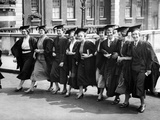 Female Undergraduates Arriving for University of London Presentation Day, 1936 Photographic Print by  Süddeutsche Zeitung Photo
