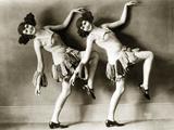 Elca-Sisters' in Berlin, 1925 Kunst på metall av Scherl Süddeutsche Zeitung Photo