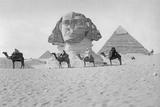 Pyramids and Sphinx of Giza, Ca. 1900's Fotografisk tryk af Scherl Süddeutsche Zeitung Photo