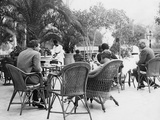 Terrace of the Continental-Savoy in Cairo, 1920s Photographic Print by Scherl Süddeutsche Zeitung Photo