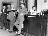 Prohibition: Drinking Men in the Usa Papier Photo par Scherl Süddeutsche Zeitung Photo