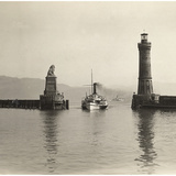 Lighthouse of Lindau, 1913 Photographic Print by Scherl Süddeutsche Zeitung Photo