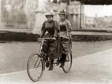 Tandem Riders in Berlin, 1905 Photographic Print by Scherl Süddeutsche Zeitung Photo