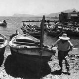 Harbour of Palermo, 1930s Fotografisk trykk av Knorr Hirth Süddeutsche Zeitung Photo