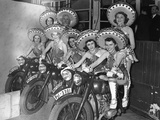 Dancers of the Tobis-Ballet on Motorcycles, 1939 Photographic Print by  Süddeutsche Zeitung Photo
