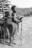 Children in South Africa, 1910 Fotografisk tryk af Scherl Süddeutsche Zeitung Photo