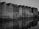 Warehouses on the 'Tar Court' in Bremen, 1936 Metal Print by Scherl Süddeutsche Zeitung Photo