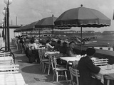 Guests on the Terrace of the Airport Restaurant of Berlin-Tempelhof, 1936 Photographic Print by Scherl Süddeutsche Zeitung Photo