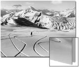 Skier in the South Tyrolean Dolomiten Near Cortina, 1930's. Plakater av Scherl Süddeutsche Zeitung Photo
