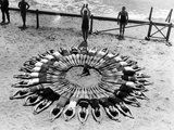 Formation on a Beach in the Usa, 1927 Photographic Print by  Süddeutsche Zeitung Photo