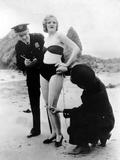 Peggy Graves on the Beach, 1933 Metal Print by Scherl Süddeutsche Zeitung Photo