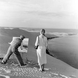 Painter on a Dune, 1939 Photographic Print by  Süddeutsche Zeitung Photo