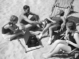Bathers Listening to Music, 1938 Photographic Print by  Süddeutsche Zeitung Photo