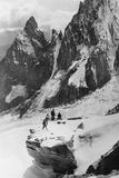 Moutaineers in the Italian Alps, 1930s Reproduction photographique par Scherl Süddeutsche Zeitung Photo