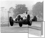 Manfred Von Brauchitsch Becomes Second in the Donington Grand Prix 1937 Print by Scherl Süddeutsche Zeitung Photo