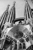 Sagrada Familia in Barcelona, 1934 Fotografisk tryk af Scherl Süddeutsche Zeitung Photo
