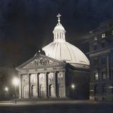 St. Hedwig's Cathedral in Berlin at Night, 1930 Photographic Print by Scherl Süddeutsche Zeitung Photo