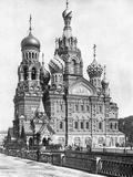Cathedral of the Resurrection of Christin Saint Petersburg, 1910s Art by Scherl Süddeutsche Zeitung Photo