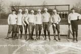 Ice Hockey Team of the Leipzig Sports Club, 1907 Papier Photo par Scherl Süddeutsche Zeitung Photo