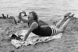 Swimsuit Trends, 1929 Photographic Print by Scherl Süddeutsche Zeitung Photo