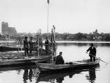 Fishermen in Prenzlau, 1934 Photographic Print by  Süddeutsche Zeitung Photo