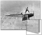 Man Playes Golf at a Plane, 1925 Prints by Scherl Süddeutsche Zeitung Photo