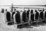 Beach Chairs in Wannsee, 1933 Photographic Print by Scherl Süddeutsche Zeitung Photo